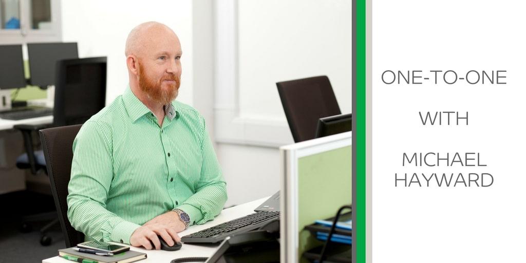 Michael Hayward at Computer Desk